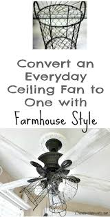 White Bedroom Ceiling Fans How I Gave My Ceiling Fan A Farmhouse Style Farmhouse Style