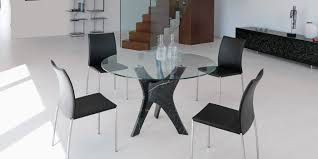 Italian Dining Room Table Brera Round Glass Dining Table Shop Online Italy Dream Design