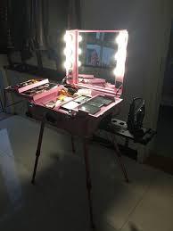 makeup artist light rolling studio makeup artist cosmetic with light bulb