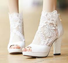wedding shoes for wide 2017 fashion winter wedding boots 9 5cm high heels white