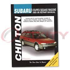 subaru justy chilton repair manual dl rs gl shop service garage