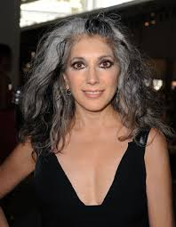 low lights in grey hair phenomenal look wonder if she is a professional model