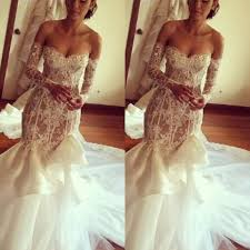 lace mermaid wedding dress low sweetheart lace mermaid wedding dresses shoulder
