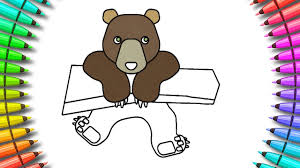 how to color baby bear coloring page for kids youtube