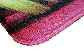 tapie de cuisine id mat 50120 macarons tapis de cuisine fibre polyamide pvc violet