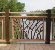 Wood Banister Mountain Laurel Handrail Wood Railings Decks Stairs