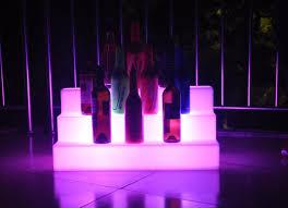 led lighted bar shelves slong light colorful led three step bar shelves holder remote