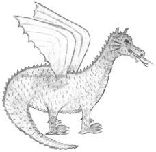 easy dragon drawings pencil