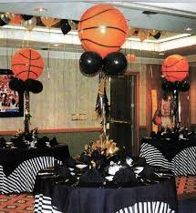 basketball centerpieces throw a basketball bar or bat mitzvah bash it up