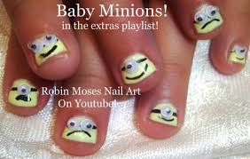 try out this super cute and easy minion nail design on your children