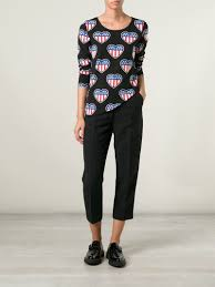 Model American Flag Lyst Love Moschino American Flag T Shirt In Black