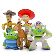 5pc set story figures statue woody home car ornament