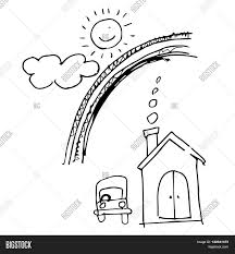sweet car drawing caree download printable coloring pages freehand sketch illustration sweet home with car cloud sun drawing