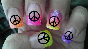 36 peace symbols nail art decals professional results not stickers