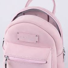 light pink leather backpack bon bon pink mini size leather backpack