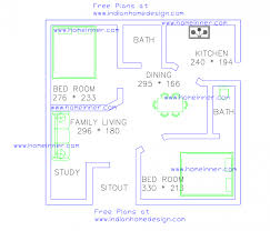 free low cost 2 bedroom 470 sq ft house plan 2 cent land