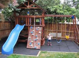 Kid Backyard Ideas Playground Flooring Ideas Best Surfacing Ideas For