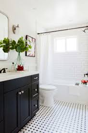 top 25 best shower bath combo ideas on pinterest bathtub shower design ideas for a transitional bathroom with shaker cabinets black cabinets an alcove tub black and white tile subway tile in bath
