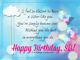 Sweet Birthday Cards 106 Best Happy Birthday Wishes For Sister With Images Birthdays