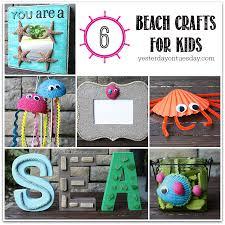 beach crafts for kids including styrofoam jellyfish a sand frame
