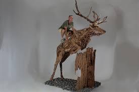 size driftwood animal sculptures by doran webb