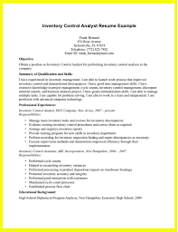 Sample Data Analyst Resume Sample Resume For Inventory Manager Resume For Your Job Application