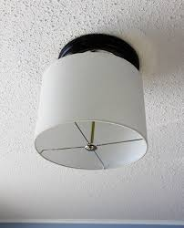 Diy Ceiling Lights Upgrade A Ceiling Light With A Drum Shade For Under 15