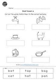 short vowels worksheets little dots education preschool