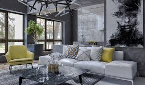 Living Room Chair Height Charming Townhouse For A Young Couple House Tours Monochromatic