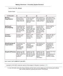 brochure rubric template science project mr johnson s 5th grade classnotre dame