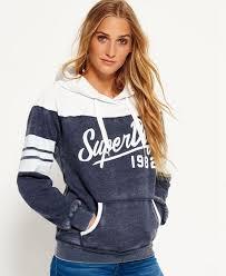 superdry vintage colour block hoodie superdry women hoodies