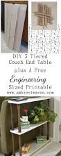 3 tier mid century modern end table engineering print ambient wares