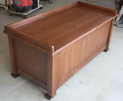 Wooden Storage Bench Plans by Wood Storage Bench Treenovation