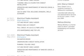 Example Chronological Resume by Skilled Trade Resume Examples Reentrycorps