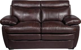 Leather Loveseats Marty Genuine Leather Loveseat Brown The Brick
