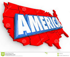 State Map Usa by America 3d Word United States Map Usa Red White Blue Background