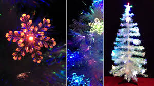 4ft fibre optic white christmas tree with led colour snowflakes