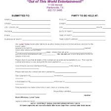 wedding planner contracts 7 best images of printable wedding planner contract agreement free