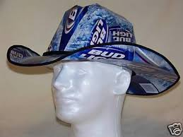 bud light beer hat bud light beer box cowboy hat christmas party nascar 45627144