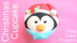 christmas cupcakes how to make a penguin cupcake by pink cake
