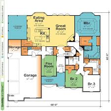 best single story house plans one story retirement house plans ideas the
