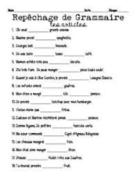 french definite and indefinite articles worksheets world