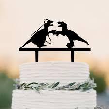 dinosaur wedding cake topper aliexpress buy dinosaur wedding cake toppers mr mrs cake