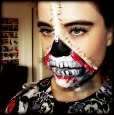 zipper face inspired make up tutorial how to create special fx