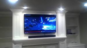 installation on samsung duo core smart tv with sound bar above