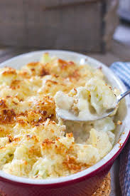 creamy cauliflower au gratin laughing spatula