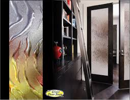decorative interior glass doors black interior door with heavy textured glass for privacy modern