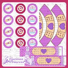 doc mcstuffins cupcake toppers curious princess doc mcstuffins inspired party printables cupcake