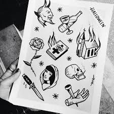 here u0027s a halloween flash sheet by lmariera tattoos between 100