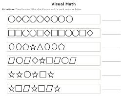 math sheets prek patterns visual math worksheets maker this